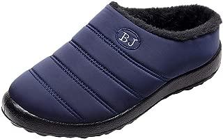 Zapatillas Impermeables para Mujer Al Aire Libre Botas De Nieve CáLidas De Invierno Zapatillas De AlgodóN Confort Antideslizantes Zapatos De Casa Calzado Interior Y Exterior