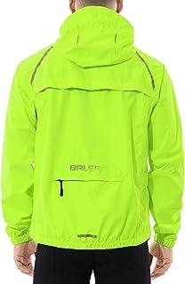 Men's Cycling Running Jacket Waterproof Reflective Lightweight Windbreaker Windproof Bike Jacket Hooded Packable