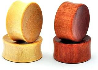 Saba Wood PW-336 Mystic Metals Body Jewelry Pair of Laser Engraved Snake Wood Plugs