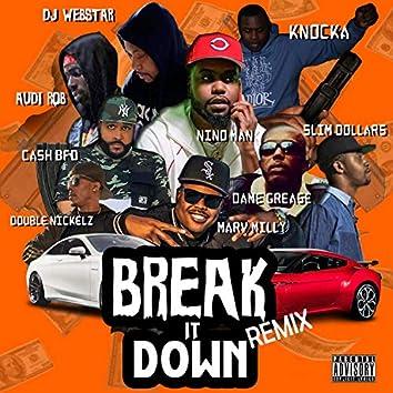 Break it down (feat. Audi Rob, Dame Grease, Dj Webstar, Knocka, Double Nickelz, Marv Milly, Slim Dollars & Nino Man)