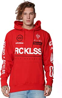 Young and Reckless - Fast Track Hoodie - Red - - Mens - Fleece - Hoodies -