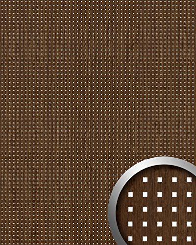 Wandpaneel plakfolie plakplastic keukenkastjes hout design WallFace 12540 3D QUAD 3D vierkant design bruin 2,60 m2