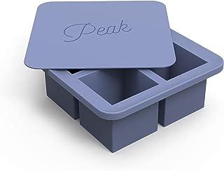 W&P WP-ICE-KC-BL1 Peak Ice Works Extra Large Cube Silicone Ice Tray, BPA Free, Dishwasher Safe, Peak Blue