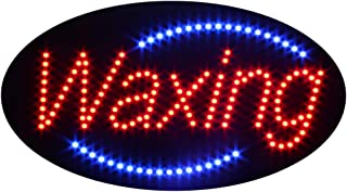 LED Waxing Open Light Sign Super Bright Electric Advertising Display Board for Nails Spa Facial Massage Message Business Shop Store Window Bedroom 19 x 10 inches (HSW0001)