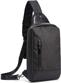 Crossbody Bag Men's Fashion Shoulder Bag Waterproof Work Bag Leisure Sports Bag Outdoor Small Backpack Black Chest Bag