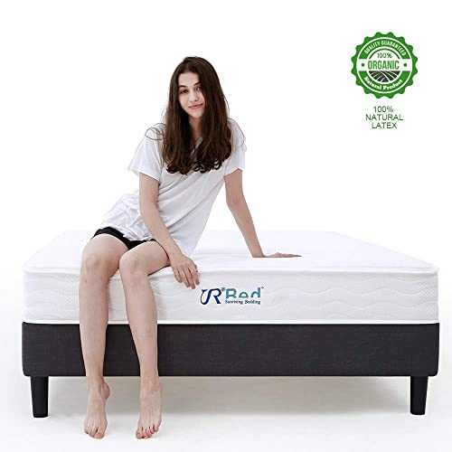 Sunrising Bedding 8 inch Natural Latex Hybrid Mattress Queen Size - Supportive Pocket Coil Spring -
