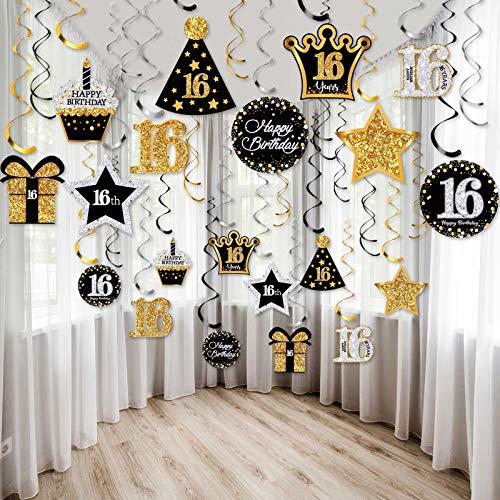 30 Piezas Remolinos Colgantes Brillante de Celebración de C
