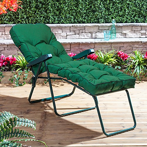 Alfresia Sun Lounger - Green Frame with Classic Green Cushion