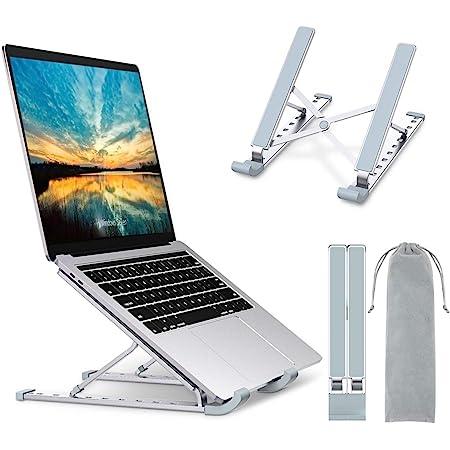 """Babacom Supporto PC Portatile, 9-Levels Regolabile Raffreddamento Supporto Laptop, Alluminio Ventilato Porta PC, Leggero Notebook Riser Compatibile con MacBook PRO Air, Lenovo, Altri 10-15,6"""" Laptop"""