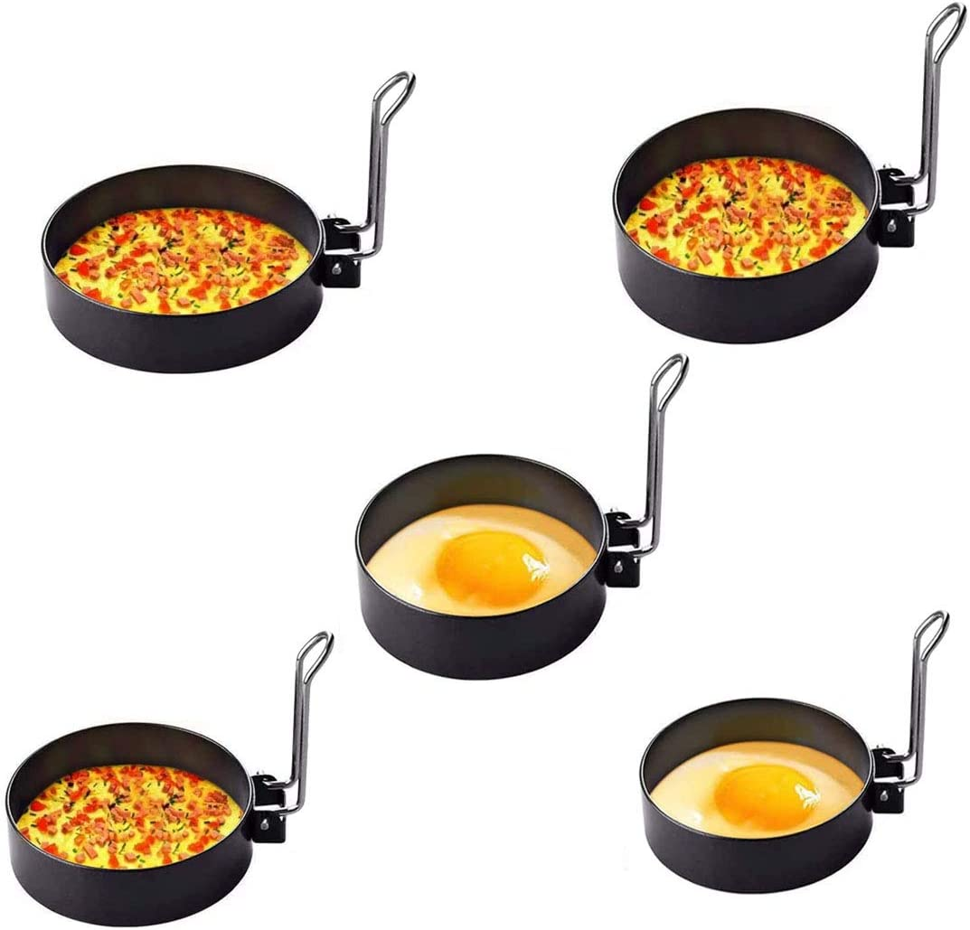 Stainless steel egg rings round Overseas parallel import regular item Washington Mall professional molds coo pancake