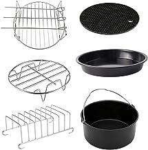 OSALADI Kit de acessórios para fritadeira a ar de 15 cm, kit de grelha de churrasco, placa de pizza, kit universal de lux...