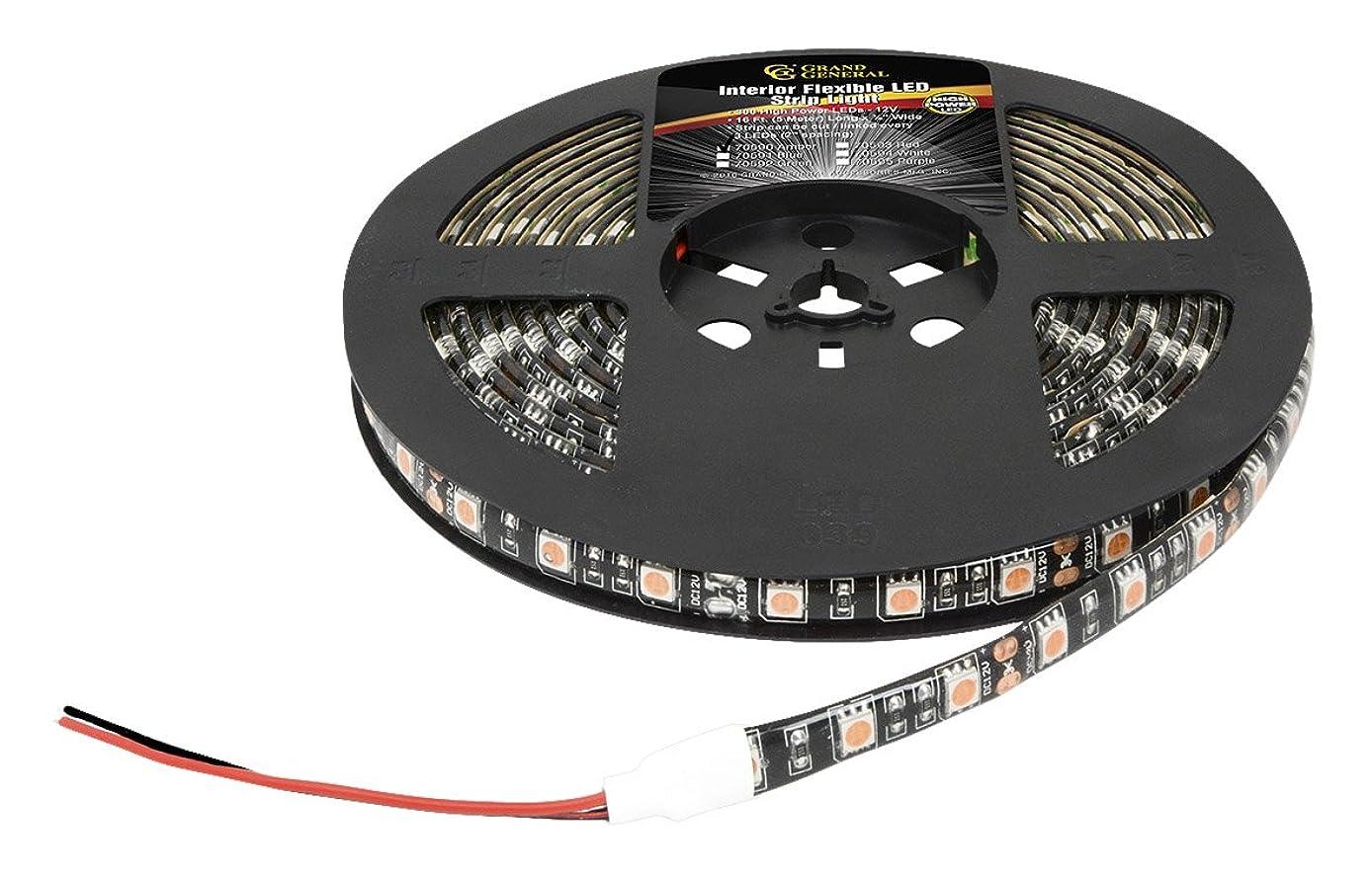 Grand General 70590 Premium Flexible 16ft 5050 LED Strip Light Waterproof For Interior Use- Amber