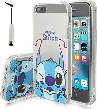 Apple iPhone 5/ 5S/ SE Étui HCN PHONE® Coque silicone TPU Transparente Ultra-Fine Dessin animé jolie pour Apple iPhone 5/ 5S/ SE mini stylet - ...