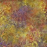 Fabric Freedom Gelb Loom Design 100% Baumwolle Bali Batik