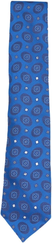 Stefano Ricci Men's Blue Luxury Collection Italian Silk Eclipse Medallions Necktie - One Size