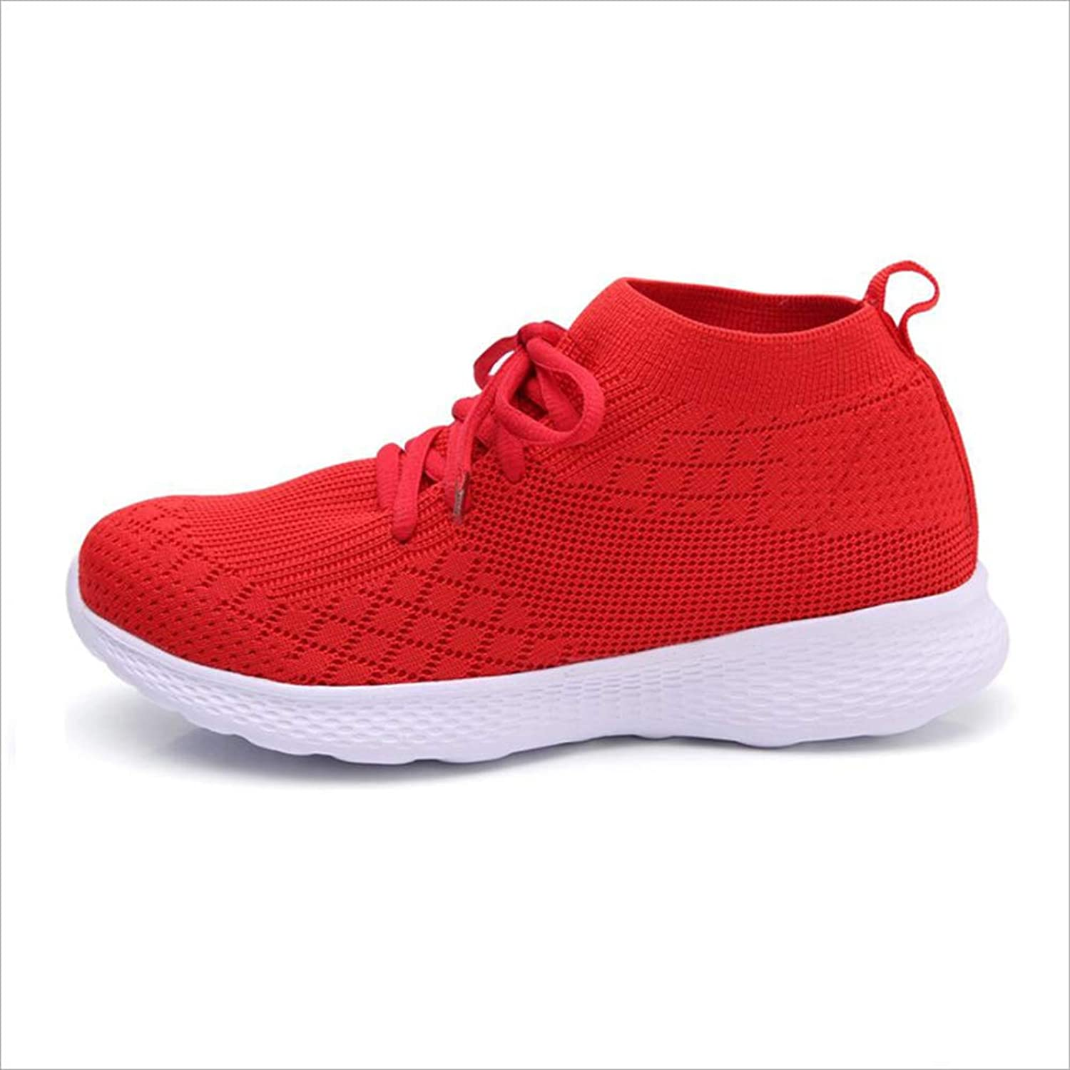 MhC Womens Casual shoes,Weave Net Lightweight Casual Athletic shoes,Spring Summer Fall Shock Absorption Breathable Athletic Sneakers,Outdoor Sneakers for Gym Park
