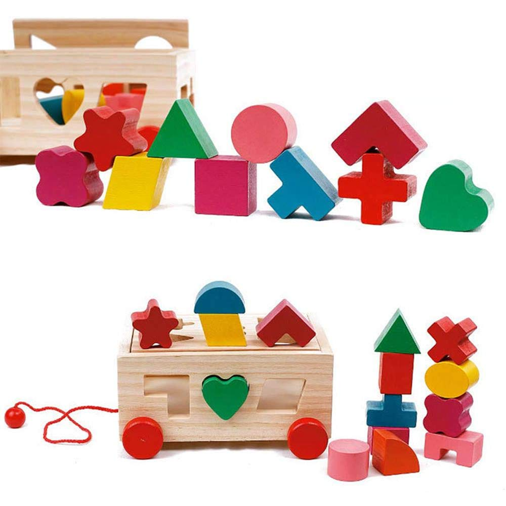 Shape Sorter Toy, Building Toys Children Educational Building Blocks Toys for Babies Early Educational Game Toy Toddlers Birthday Gifts