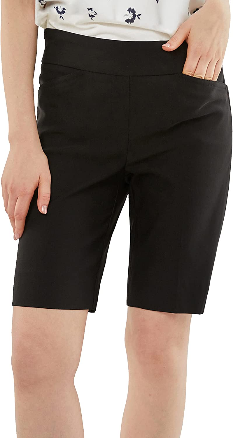"""May You Be Women's Pull-on Styling 9"""" Inseam Millennium Bermuda"""