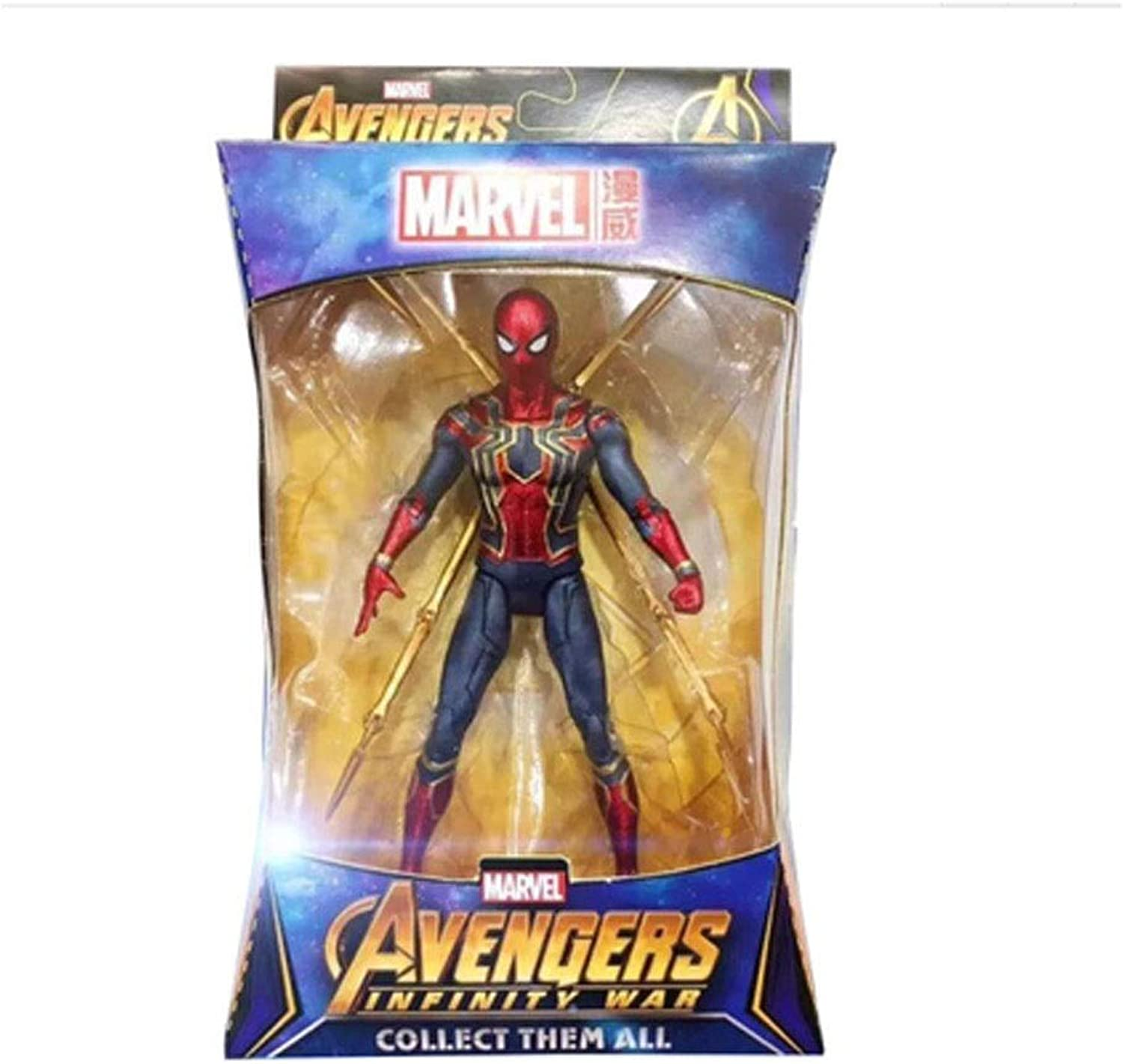 Toys  Miracle Toys  DC Toys  Avengers 3 4 Joint Detachable  Spiderman   Superman   Commander   Iron Man   Hulk ( color   C )