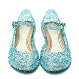 Katara- Zapatos con Cuña Disfraz Princesa Elsa Frozen Niña, Color azul, EU 28 (Tamaño del fabricante: 30) (ES10)