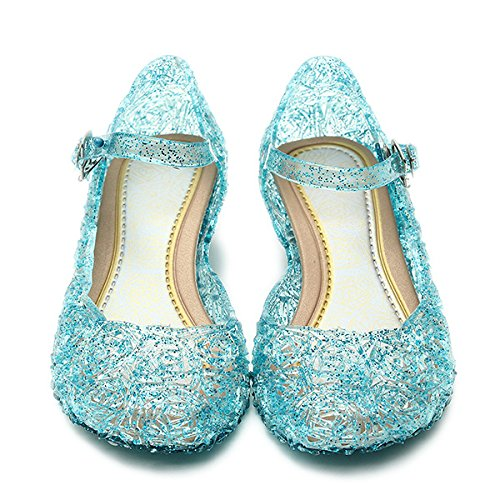 Katara- Zapatos con Cua Disfraz Princesa Elsa Frozen Nia, Color azul, EU 28 (Tamao del fabricante: 30) (ES10)