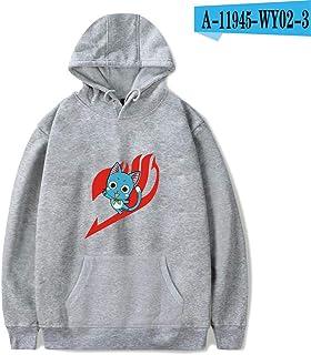 Sudadera con Capucha HD Hoodie Unisex Sudadera Estampada Sweater De La Capa De Impreso Arte Tops Pullover Cosplay Fairy Tail