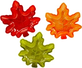 3 Pack of Fall Autumn Leaf Candy Dishes