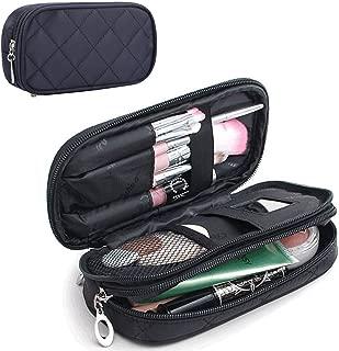 MONSTINA Makeup Bag for Women With Mirror,Pouch Bag,Makeup Brush Bags Travel Kit Organizer.