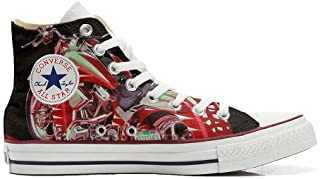 Zapatillas de Deporte Unisex All American USA - Base Type Star - Estampado Vintage 1200 dpi - Estilo Italiano - Zapatos Pe...