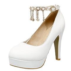 e2a479fefc7 Latasa Women s Ankle-Strap Platform High Heels Dress Pumps