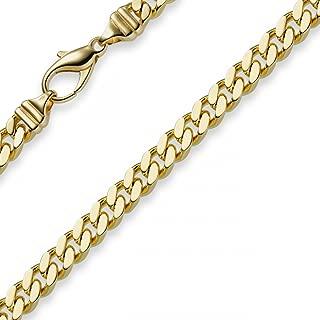 18ct collier en or jaune chaîne de sécurité avec fermoir