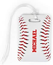 personalized baseball bag tags