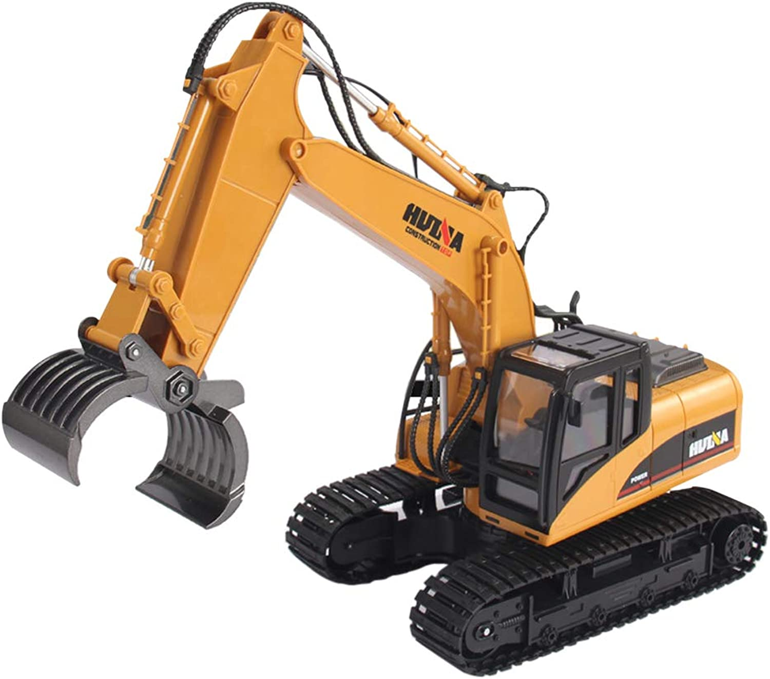 TOPQSC 2.4G RC Alloy Hammer Excavator 16 Channel Professional RC Drill Tractor Remote Control Construction Tractor