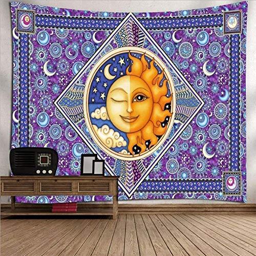 Tapiz de decoración de moda para colgar en la pared, mandala indio, playa, buda, cama de viaje, tapiz bohemio, mandala, sala de estar, dormitorio, decoración, mandala (L / 150x200cm franela)