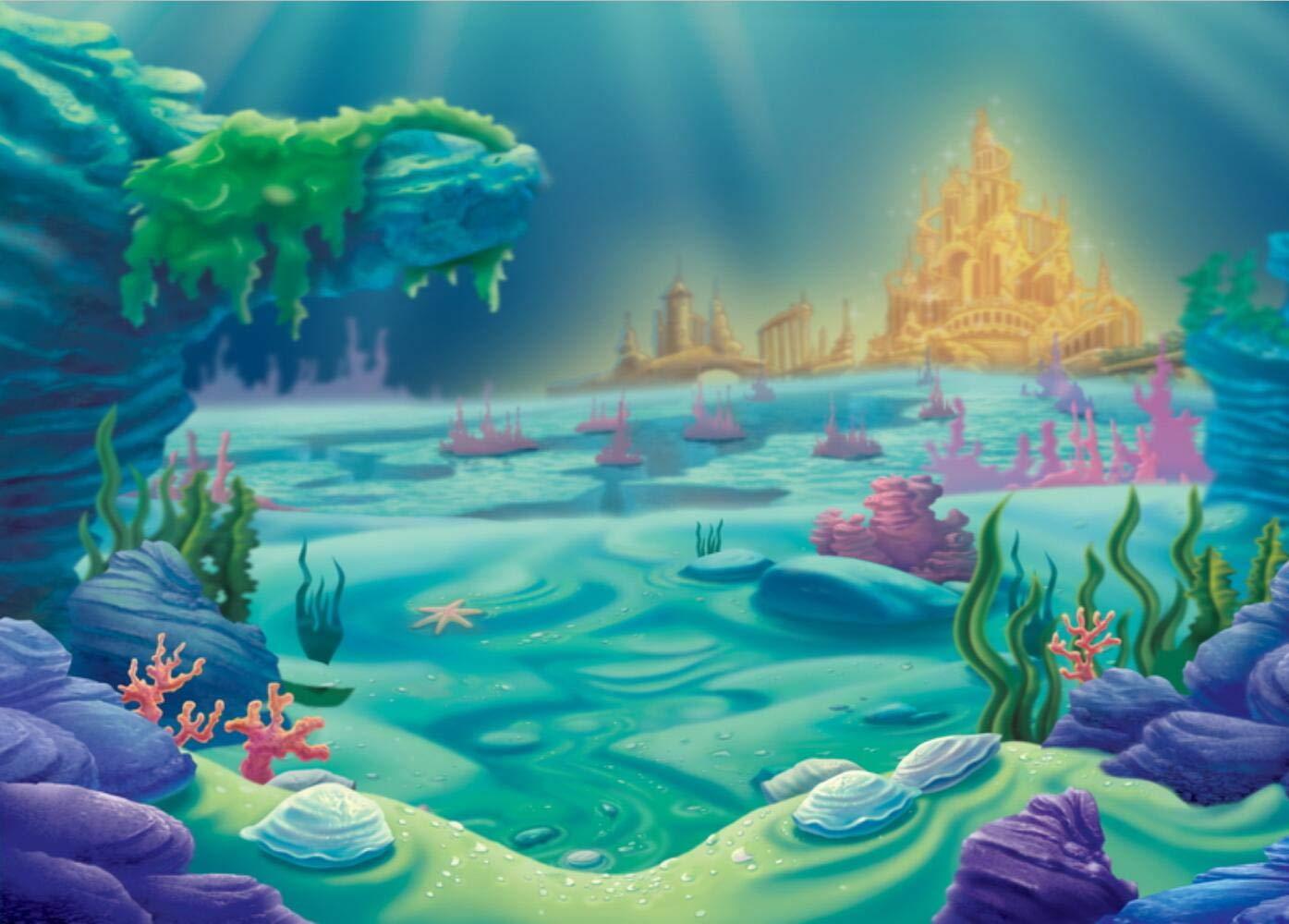 Amazon マーメイドテーマの背景 可愛らしい海の魚の色 サンゴ礁の背景 水中 世界写真 子供 誕生日パーティー 背景 ベビーシャワー壁紙 スタジオ 写真ブース小道具 10x7フィート E00t バックペーパー 背景布 通販