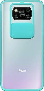 جراب سيليكون مزود بواقي كاميرا لموبايل شاومي بوكو X3، لون ازرق بحري