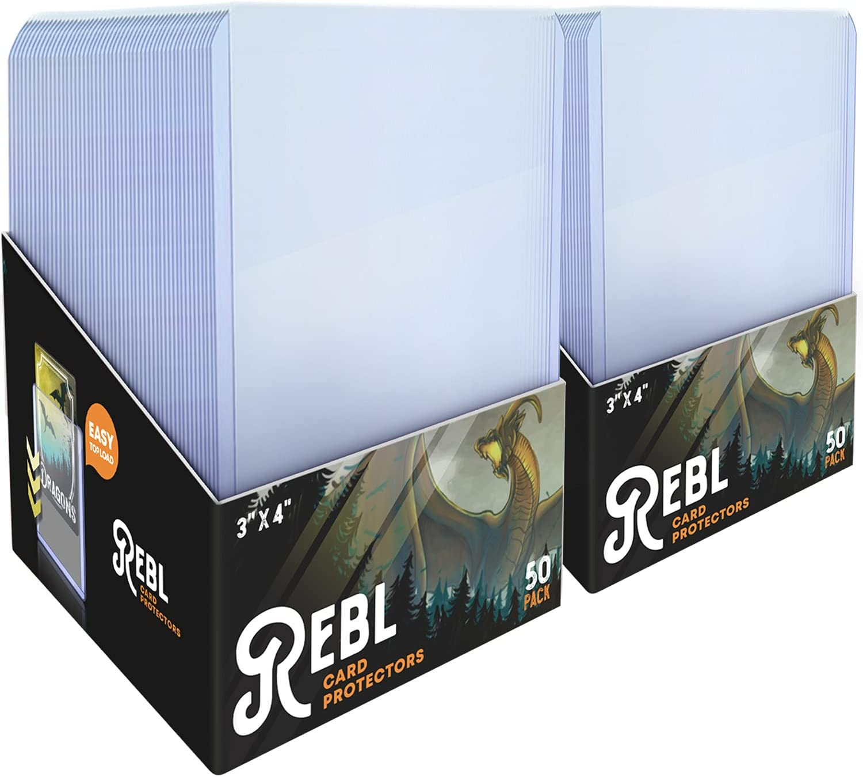 Toploader Card Protectors 100-Pack 3x4 Ultra Rigid Clear Columbus Mall 2021 model Hard