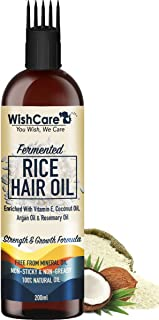 WishCare® Fermented Rice Hair Oil - With Deep Root Hair Applicator- Increases Strength & Promotes Growth - 200 Ml - NO Min...