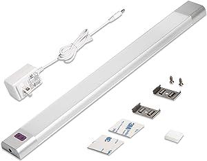 Under Counter Lighting, WOBANE Under Desk Light Bar, Hand Wave Activated, 12 inch Dimmable Panel, Super Bright Aluminum Strip Light for Kitchen,Shelf,Cupboard,Closet,Workbench,Cabinet,6000K White