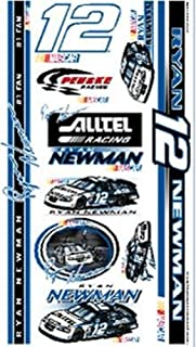 WinCraft NASCAR Ryan Newman TattooTemporary Tattoos, Team Colors, One Size