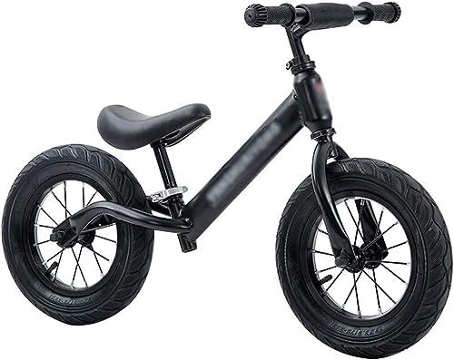 YJFENG Kinder Balance Bikes Laufrad H nverstellbar PU-Sitz Rutschfester Griff Flexibler Betrieb Sicherheit Keine Notwendigkeit Zu Installieren (Farbe   schwarz, Größe   53x91cm)