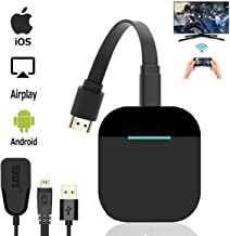 Wireless Display Dongle, Wireless HDMI Display Adapter,1080P HD WiFi HDMI Dongle Receiver Streaming Devices, Support Airpl...