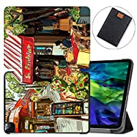 """MAITTAO Magnetic Smart Case for iPad Pro 11 inch 2020, Support Apple Pencil Wireless Charging with Auto Sleep/Wake, Leather Stand Cover for New iPad 11"""" 2020 A2228 / A2231,Cityscape Painting 3"""