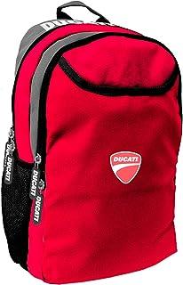 Ducati Logo Boys Casual Daypack School Bag Backpack, Color Red