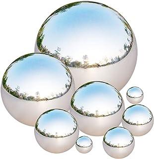 Tiberham Gazing boll i rostfritt stål, 8 st 42-200 mm spegel polerad ihålig boll reflekterande trädgårdssfär flytande damm...