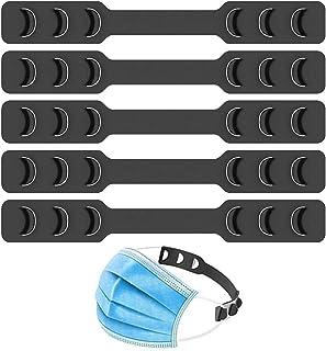 Mask Strap Extender Adjustable Ear Saver for Masks, Anti-Slip Ear Strap Hook Relieve Pressure & Pain for Ear Protector Wearing Long-time Mask for Nurse Dust-Worker Food-Worker Men Women Kids, 5PCS