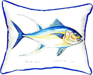 "Betsy Drake SN116 Tuna Small Indoor/Outdoor Pillow, 11"" x14"""
