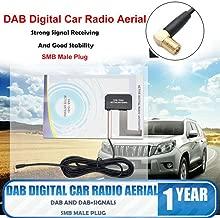 ZAVAREA Universal DAB Digital Car Radio Aerial Antenna SMB Window Glass Integrated Mount Signal Amplifier
