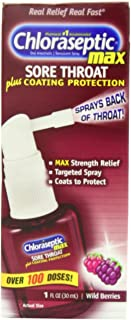 Chloraseptic Max Strength Spray, Wild Berries, 1-Ounce Packages (Pack of 3)