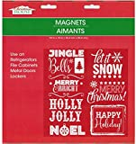 Christmas and Winter Themed Glitter Refrigerator Magnets 2017 (Christmas Words)